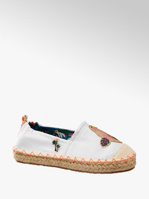 Graceland Witte espadrille embroidery