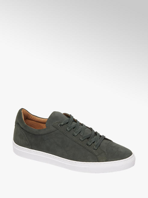 AM shoe Groene nubuck sneaker vetersluiting