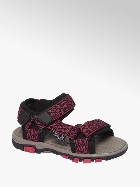 Cupcake Couture Zwarte sandaal klittenbandsluiting