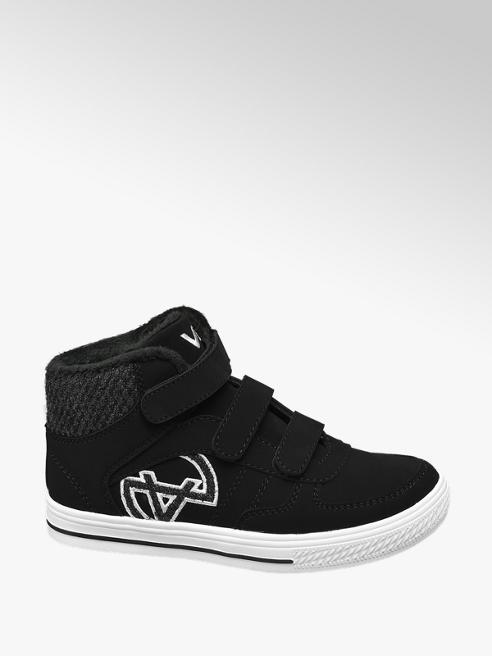 Zwarte halfhoge sneaker velcro