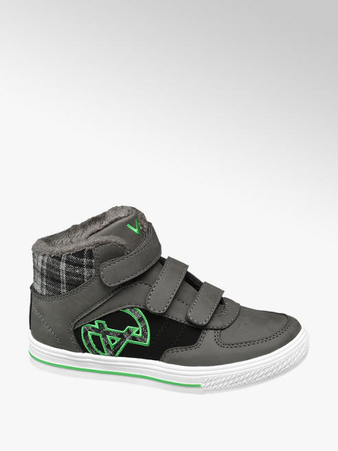 Vty Grijze halfhoge sneaker klittenband