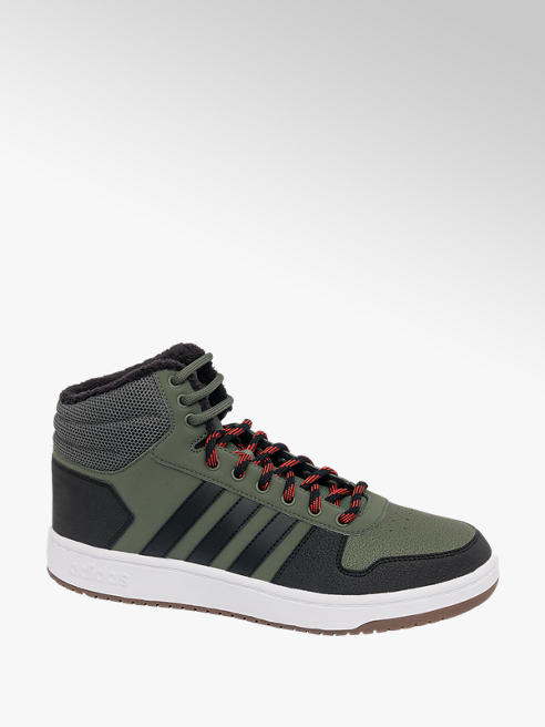 adidas Mens Adidas Mid Hoops 2.0 Fur Lined Trainers