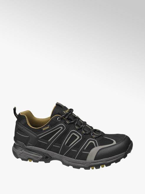 Landrover Zwarte wandelschoen vetersluiting