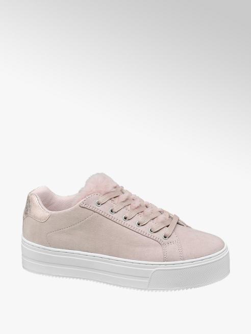 Graceland Roze sneaker bont