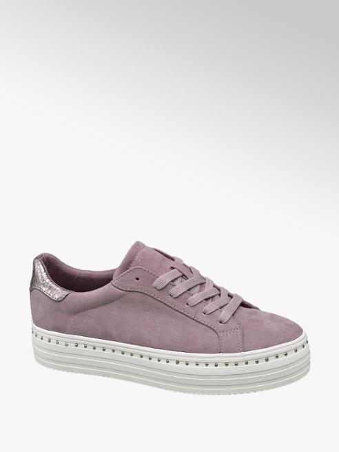 Graceland Paarse sneaker plateauzool