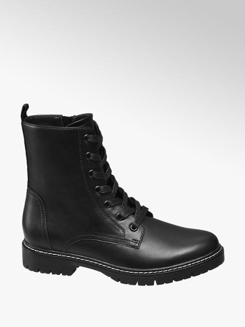 Graceland Zwarte veterboot love