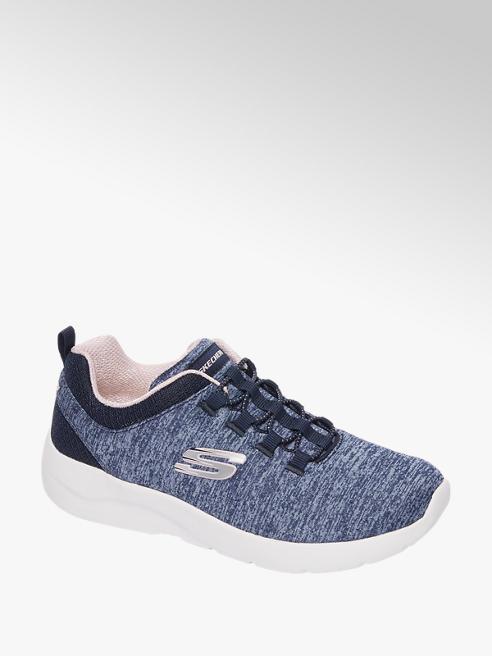 Skechers Blauwe knitted sneaker memory foam