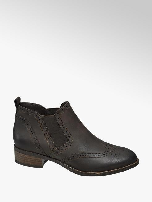 Graceland Brown Brogue Detail Chelsea Boots