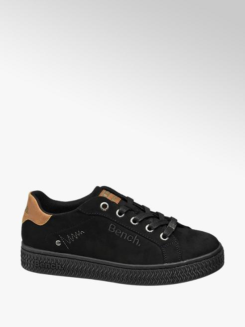 Bench Zwarte sneaker plateauzool