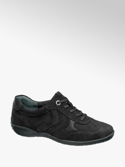 Medicus Zwarte nubuck sneaker stiksels