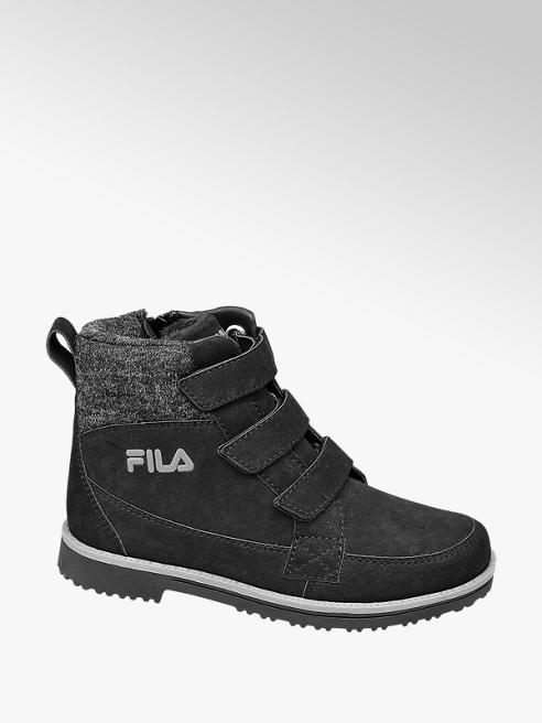 Fila Teen Boy Black Fila Triple Strap Ankle Boots
