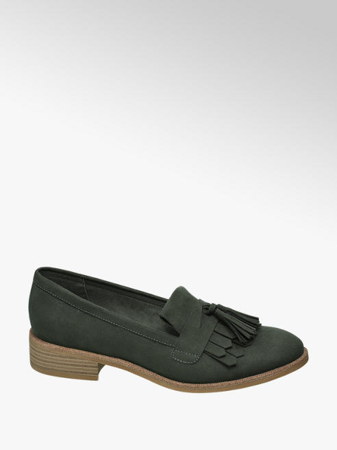 Graceland Khaki loafer franjes