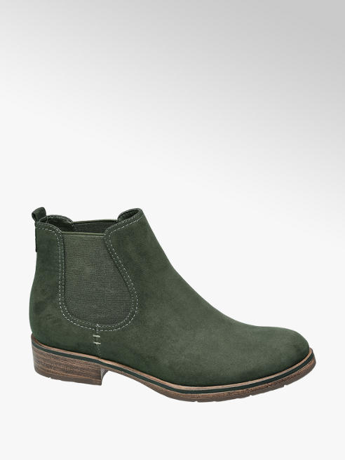 Graceland Legergroene chelsea boot