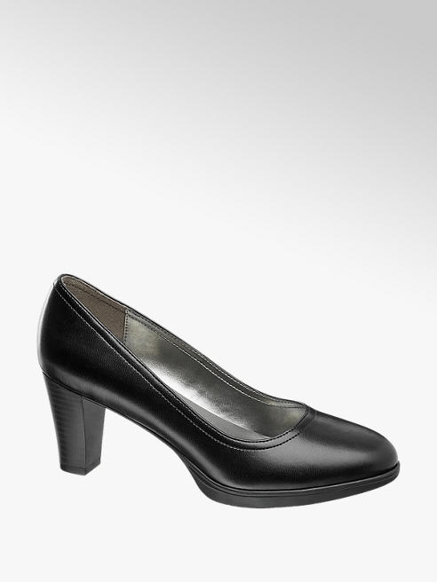 Graceland Zwarte pumps plateauzool
