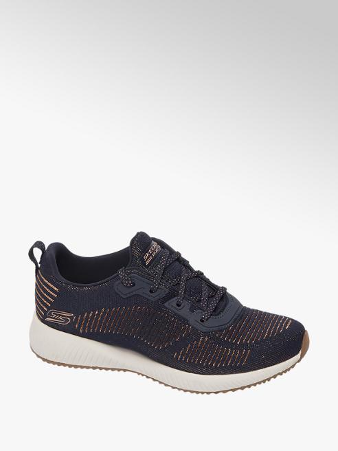 Skechers Donkerblauwe knitted sneaker memory foam