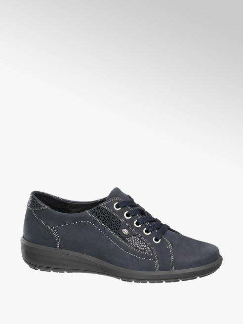 Medicus Donkerblauwe leren sneaker stiksels