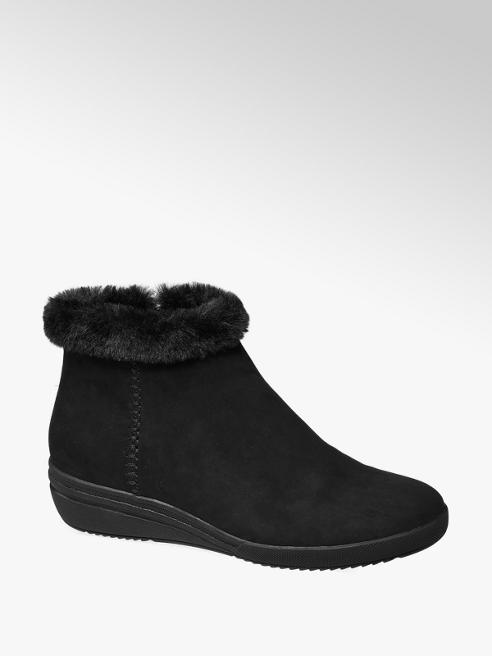 Easy Street Comfort Zwarte warm gevoerde enkellaars