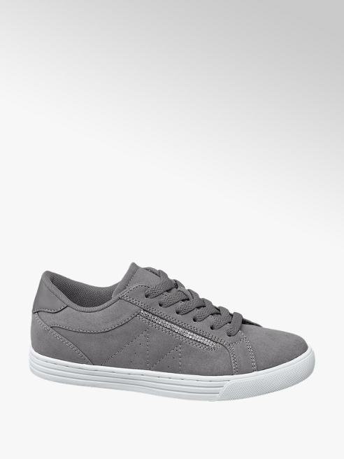 Graceland Grijze sneaker stiksels