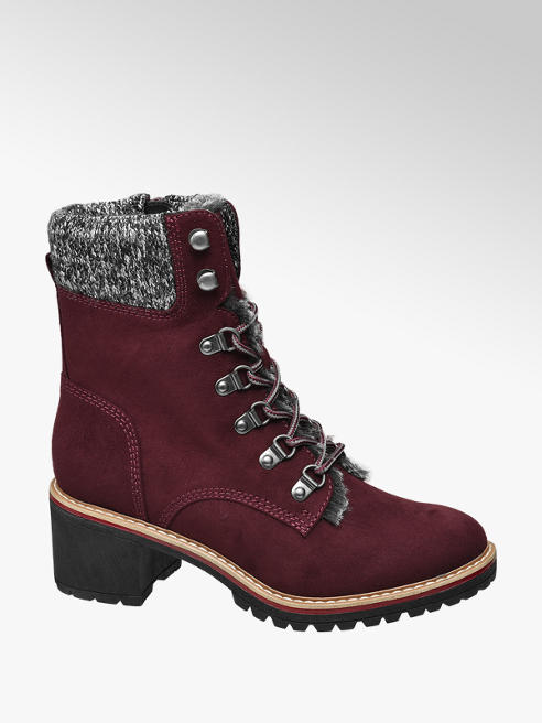 Landrover Bordo Heeled Lace-up Ankle Boots