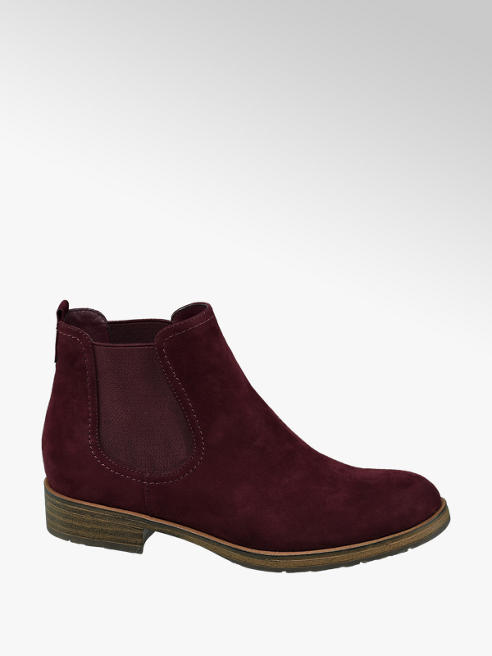 Graceland Bordeaux rode chelsea boot
