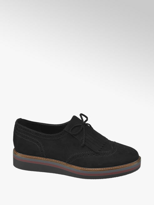 Graceland Zwarte brogue loafer grove zool