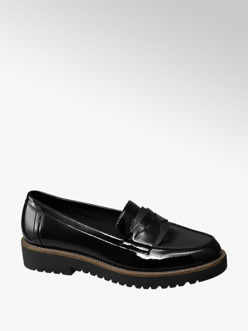 Graceland Zwarte lak loafer grove zool