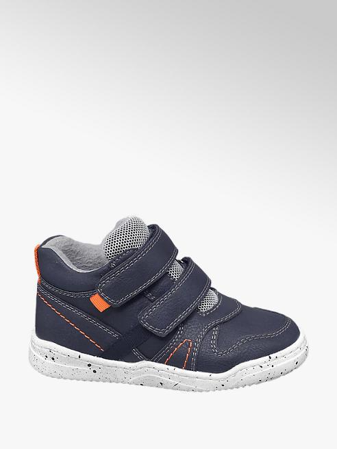 Bobbi-Shoes Blauwe halfhoge sneaker klittenbandsluiting