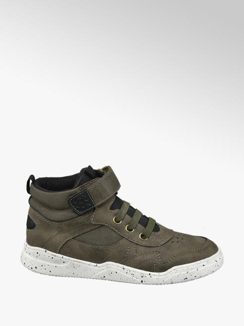 Memphis One Junior Khaki Splat Sole Hi-Top