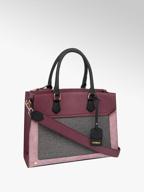 Contrast Handle Tote Bag