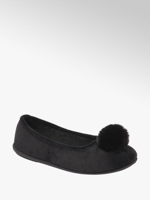 Casa mia Zwarte ballerina pantoffel