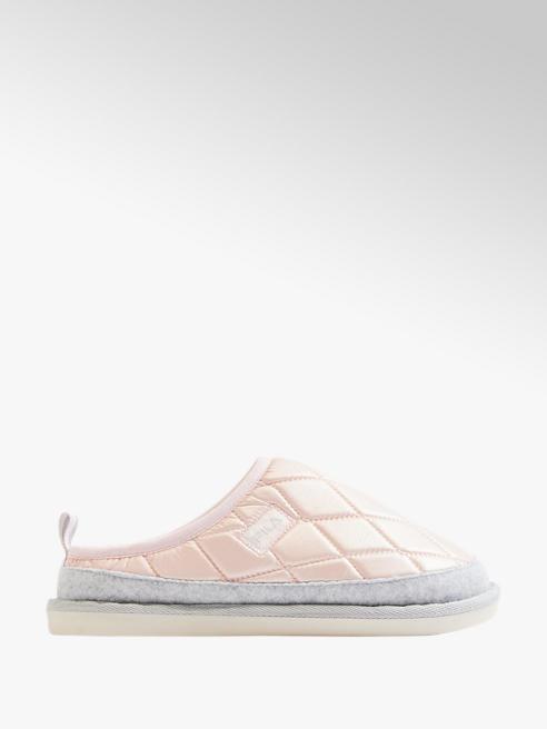 Casa mia Zwart witte pantoffel warmgevoerd
