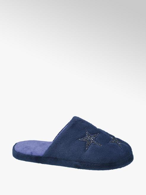 Casa mia Blauwe instap pantoffel