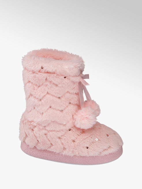 Cupcake Couture Roze pluche pantoffel
