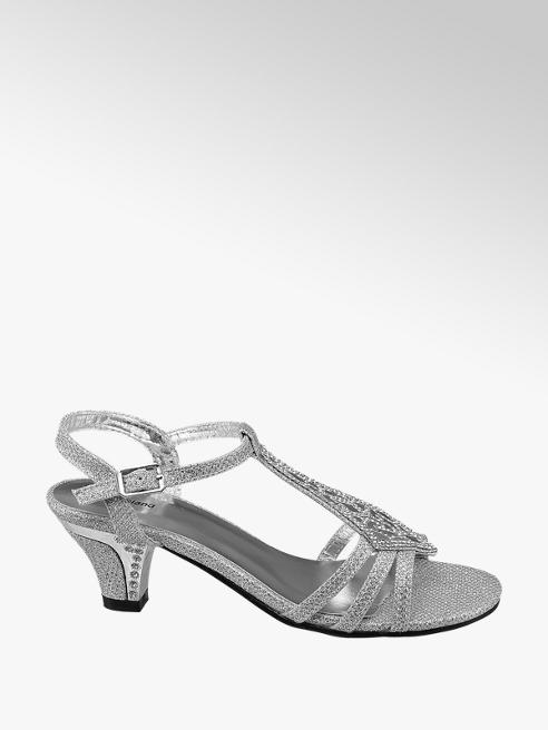 Graceland Junior Girl Silver Glitzy Party Sandals