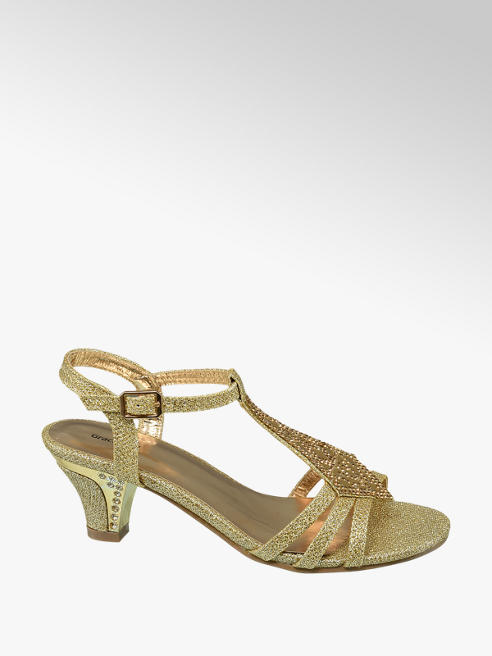 Graceland Junior Girl Gold Glitzy Party Sandals