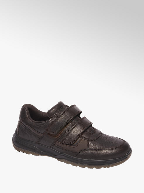 Gallus Zwarte leren schoen velcrosluiting