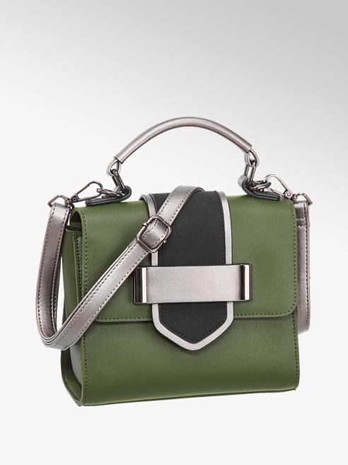 Graceland Groen/zwarte handtas