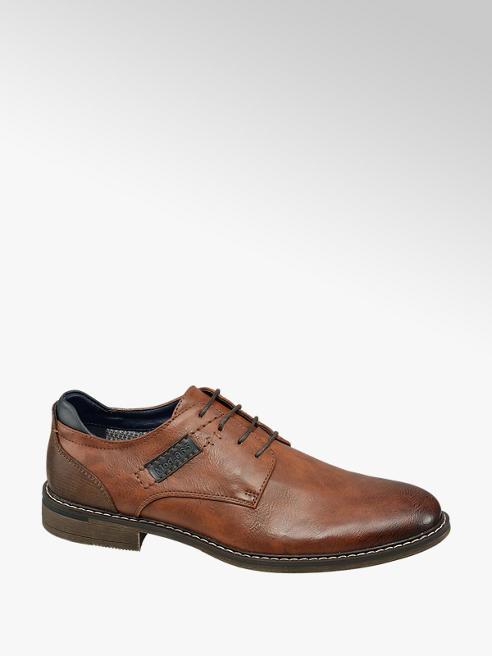Venice Bruine geklede schoen vetersluiting
