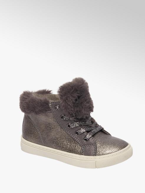Graceland Donkergrijze halfhoge schoen vetersluiting