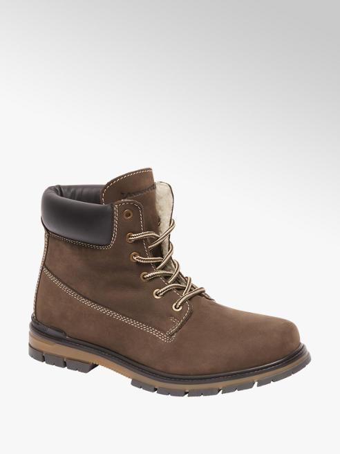 Landrover Bruine nubuck boot vetersluiting