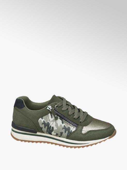 Graceland Khaki sneaker glitter legerprint