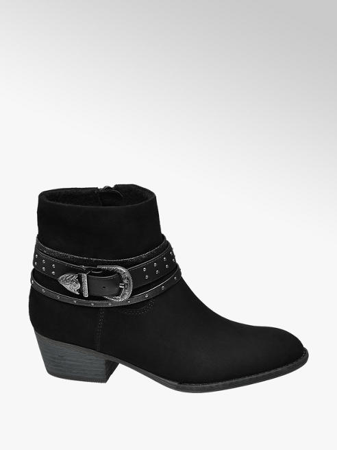 Graceland Teen Girl Black Western Style Ankle Boots