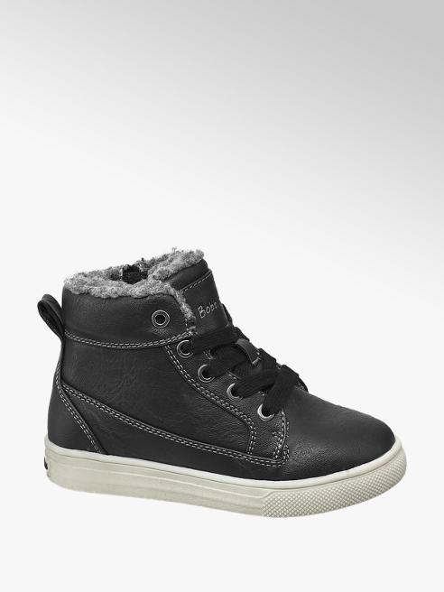 Bobbi-Shoes Zwarte bootie vetersluiting