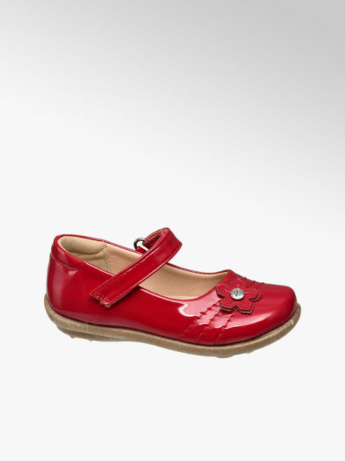 Cupcake Couture Toddler Girl Red Flower Detail Bar Shoes