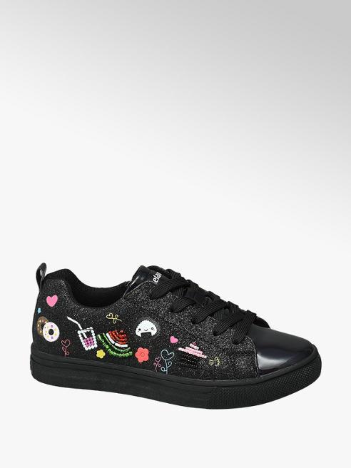 Graceland Zwarte sneaker symbolen