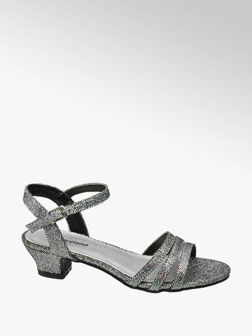 Graceland Teen Girl Silver Sparkle Party Sandals