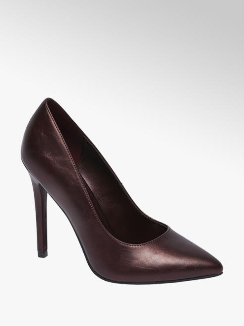 Graceland Bordeaux metallic pump