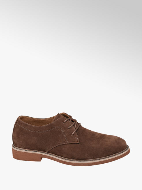 Memphis One Mens Brown Suede Lace-up Shoes
