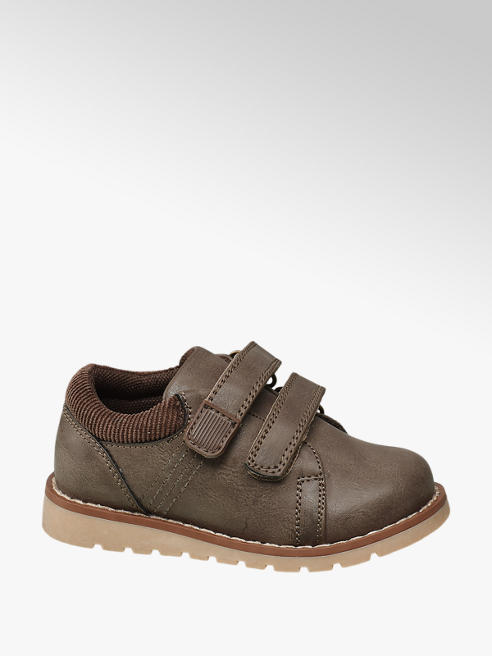 Bobbi-Shoes Toddler Boy Taupe Twin Strap Shoes