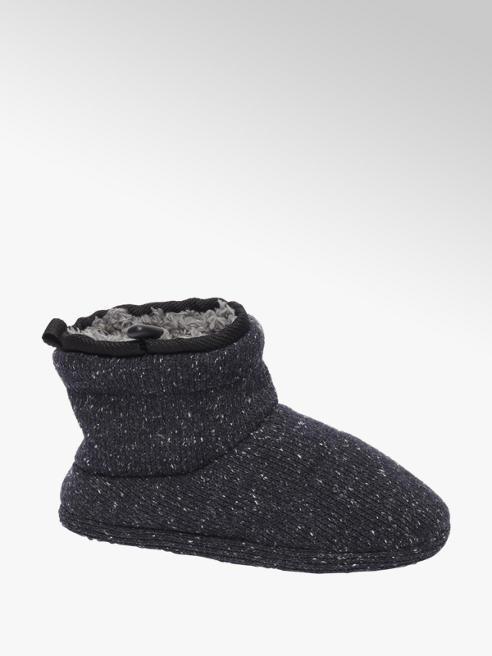 Casa mia Zwarte pantoffel warmgevoerd